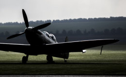 Twin-seat Spitfire at Dawn.