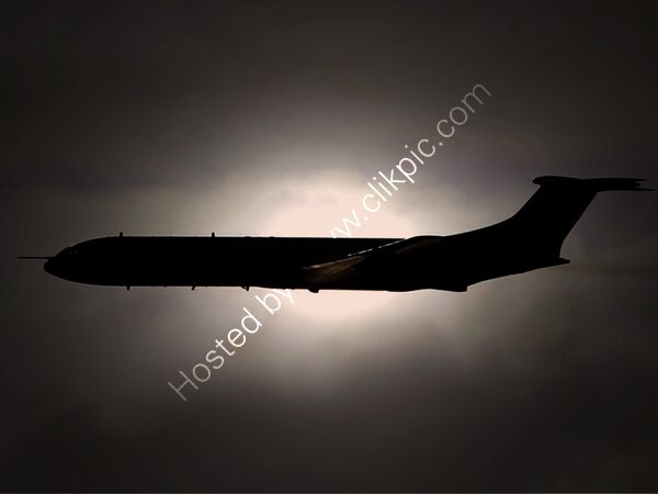 VC-10 ZD241 PASSING THE SUN