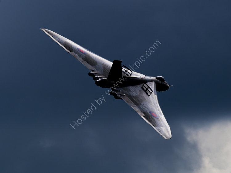 Vulcan XH558 over RAF Scampton.