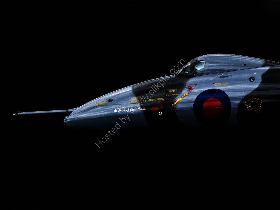 Vulcan XH558 in the shadows