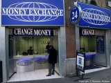Money exchange office in central London