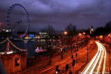 Night London on Victoria Embankment