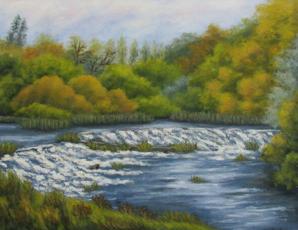 Autumn at Milford Weir