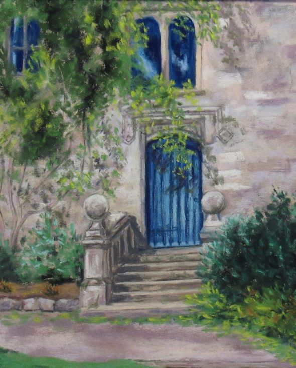 Blue Door in Lismore Castle