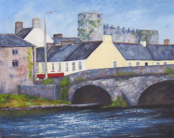 Evening Falls Over Carlow Castle