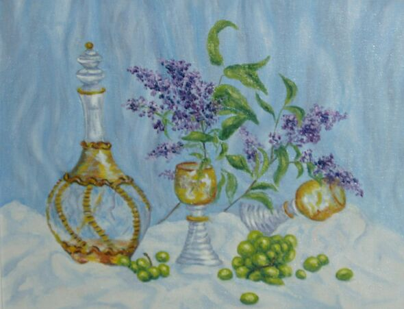 Decanter and Lilac