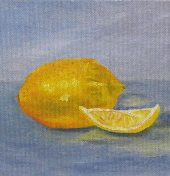 Lemon and Wedge