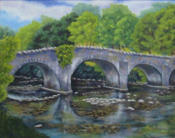 Mid Summer at Clara Vale Bridge, Wicklow