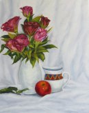 Roses with Jug and Apple