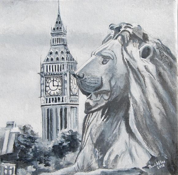 Trafalgar Square Lion 2018