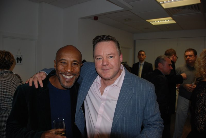 Meeting Danny John-Jules ( Cat  Red Dwarf ) Stars on Canvas, London. W1