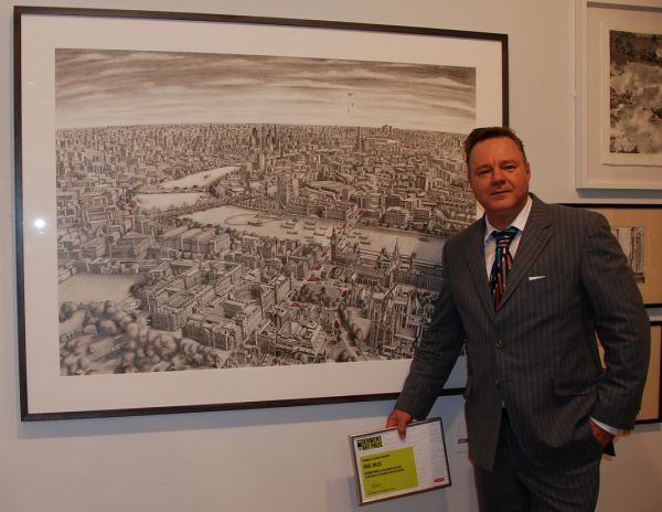 "Second Prize at ""The Derwent Art Prize"" at the Mall Galleries. September 18th 2013"