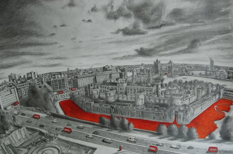 Tower of London Poppies 2015 A2
