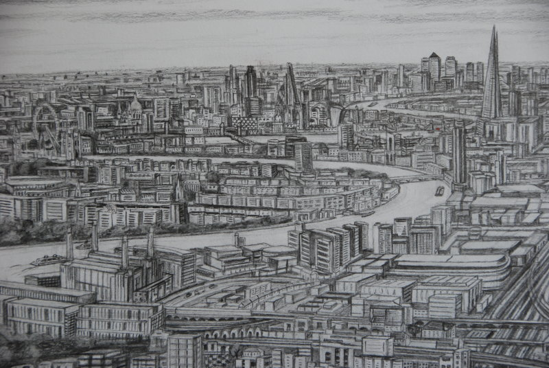 """Canary Wharf, The City and Battersea Power Station in """"Clapham Junction 2018"""""""