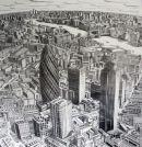 City of London towards Canary wharf. 2009