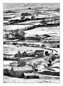 moorland farm in winter