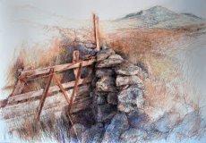 Arenig Fawr. Broken gate