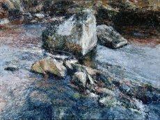 Stream Boulder Afon Serw