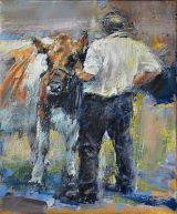 Farmer and cow. Study 2.