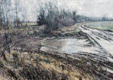flooded farm track