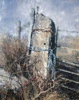 Gatepost and Brambles