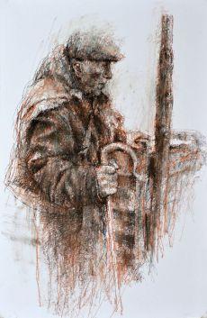 shepherd and corner post