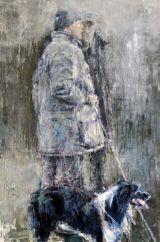 Shepherd and dog