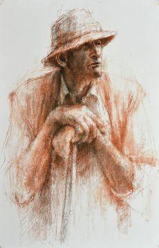 shepherd looking (study)