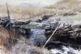 Wall over the stream, Arenig