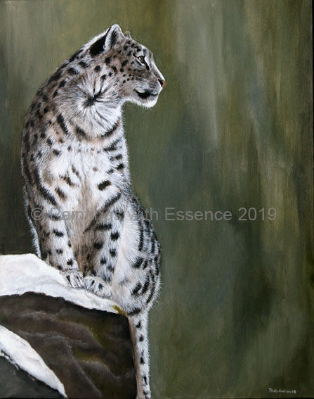 Snow Leopard- Mountain Lookout