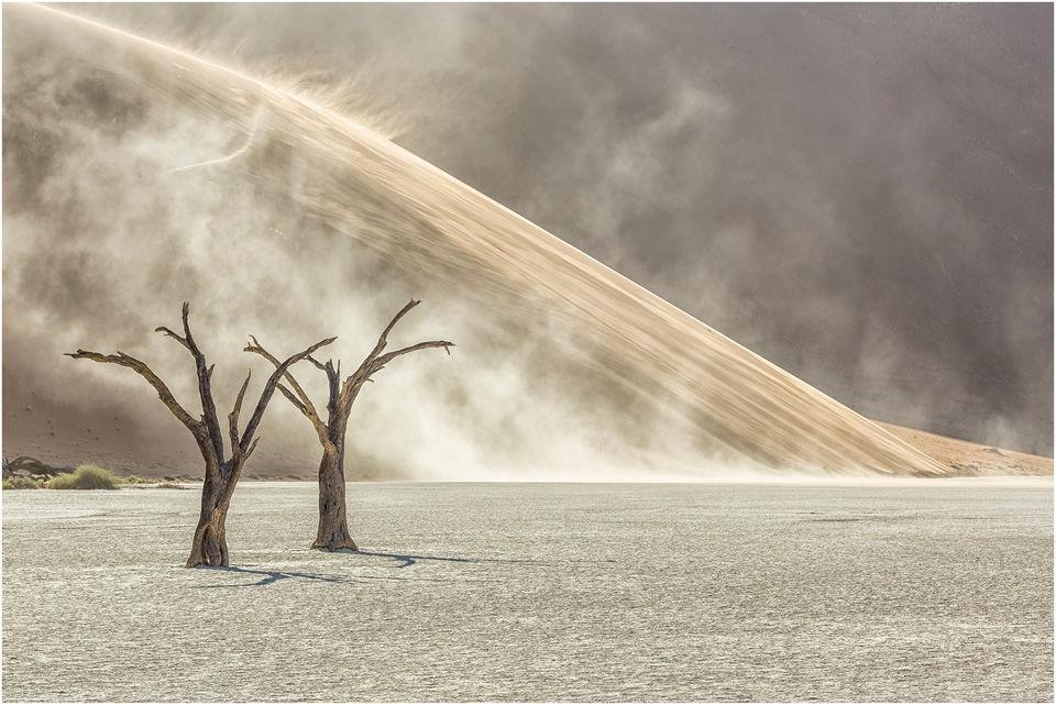 Developing sandstorm, Dead Vlei