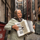 Romanian Accordian Lady