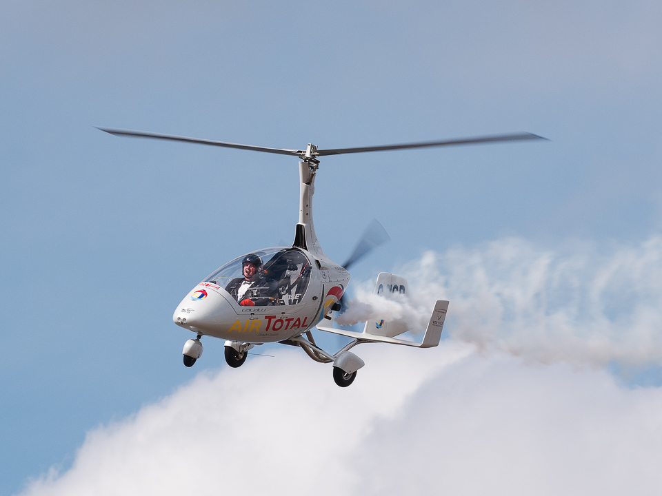 An autogyro at the Scottish Airshow.