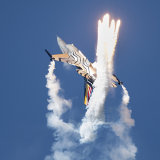 Belgian F16 Missile Decoy Flares Ayr Seafront Airshow