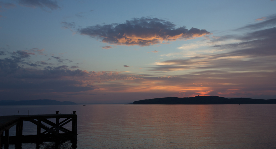 Sunset from Portencross
