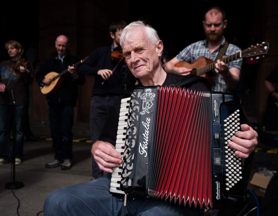 John Carmichael on accordion