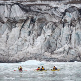 Kayakers at 14th July Glacier