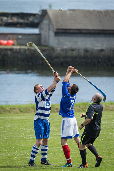 Shinty throw up