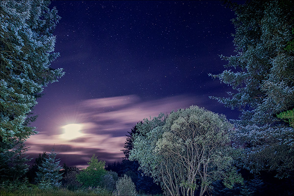 Slow Shutter Speed - Galloway Night Sky