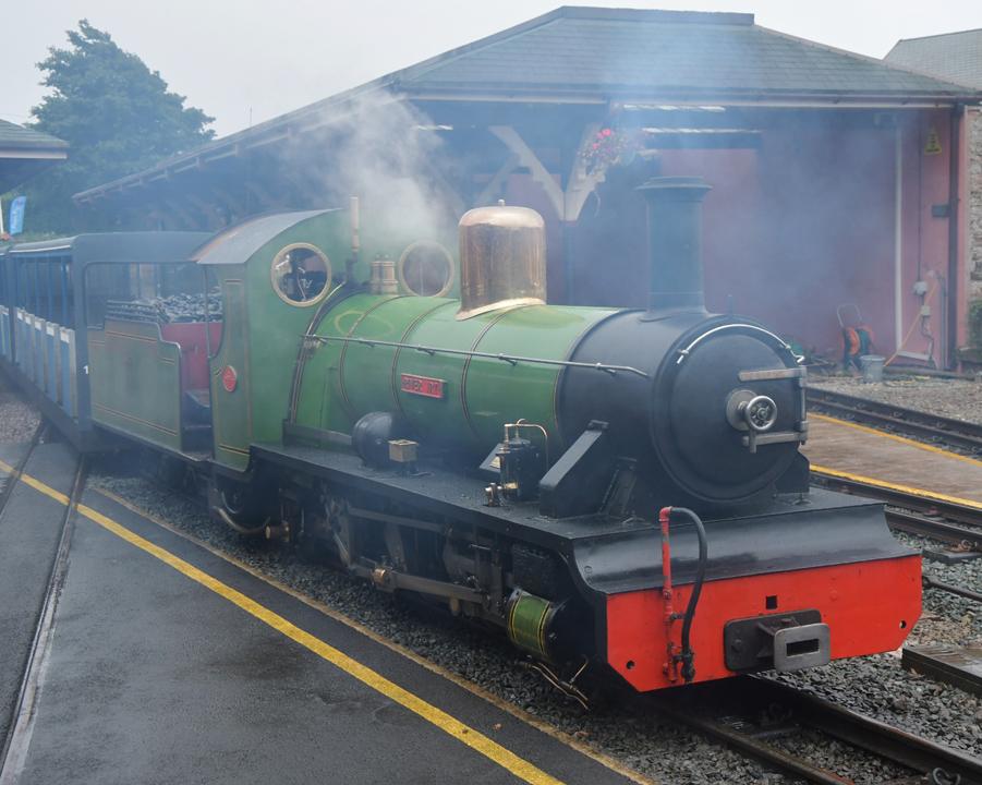 Steam Train. River Irt ( Raven Glass )