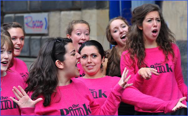 Pink Septette at the Fringe, Edinburgh