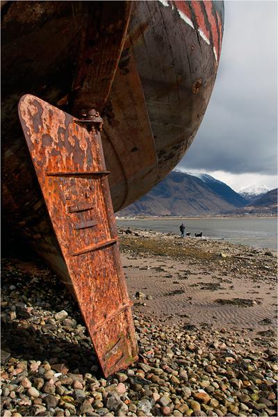 Beached Trawler, Corpach