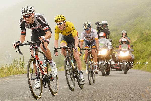 Tom Dumoulin leads Tour de France winner Geraint Thomas