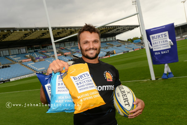 Burts Chips sponsor  the Exeter Chiefs player Phil Dollman