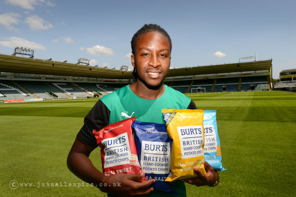 Burts Chips have sponsored Plymouth Argyle player Tafari Moore