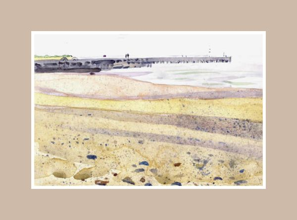 South pier of Southwold harbour, from Walberswick beach