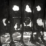 Part of the rusted hull of the Plassey, shipwreck