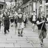 Pilgrims arrive in Santiago de Compostela