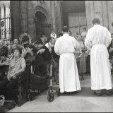 Pilgrims recieving Communion in the Cathedral in Santiago de Compostela