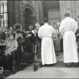Pilgrims recieve Holy Communion at mass in the Cathedral in Santiago de Compostela